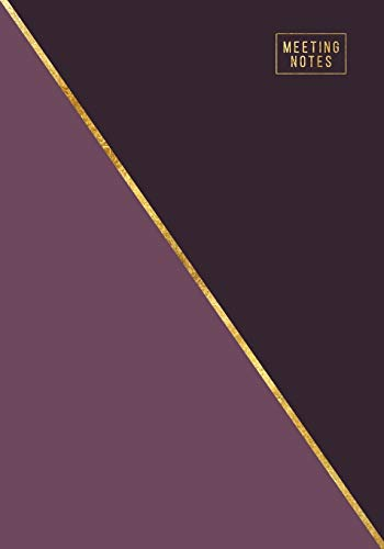 Meeting Notes: Weekly and Monthly Business Agenda Organizer with Action Items - To Do Lists - Notes   Abstract Purple & Gold