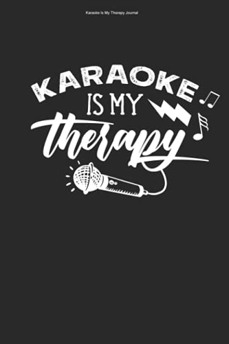 Karaoke Is My Therapy Journal: 100 Pages | Graph Paper Grid Interior | Sing Hobby Song Pub Party Funny Music Lover Karaoke Singing Singer