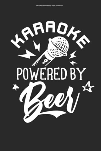 Karaoke Powered By Beer Notebook: 100 Pages | Graph Paper Grid Interior | Lover Party Funny Karaoke Singer Sing Song Singing Hobby Pub Music