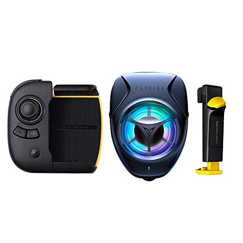 Mobile Game Controller PUBG, Flydigi Wasp 2 Gamepad Gloria Royal Peace Elite Android iOS Phone Tablet Universale Tastiera Bluetooth ausiliario Dispositivi automatici (wasp 2+beewing+yellow trigger)