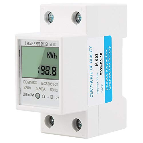 Energy Meter 5-80A DDM15SC Display Digitale LCD Monofase Din-Rail Contatore Di Energia Elettronica KWh Meter Accuracy Analyzer