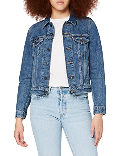 Levi's Original Trucker Giacca in Jeans, Soft As Butter Dark, XS Donna