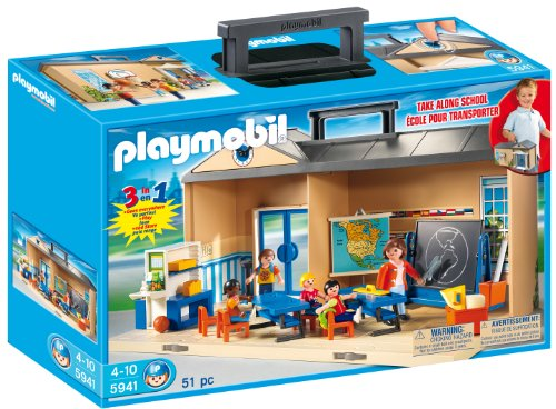 PLAYMOBIL Take Along School Playset 15.7 X 4.5 X 9.8 Inches 2.6 Pounds New