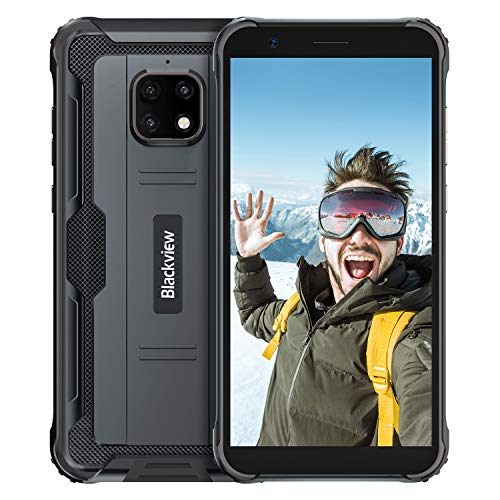 Blackview BV4900 Pro Rugged Smartphone (2020), IP68 Impermeabile, Dual SIM 4G Android 10.0 Cellulare Militare HD+ da 5,7 Pollici, 4GB RAM+64GB ROM 128 GB Expandable, 5580mAh, NFC,GPS