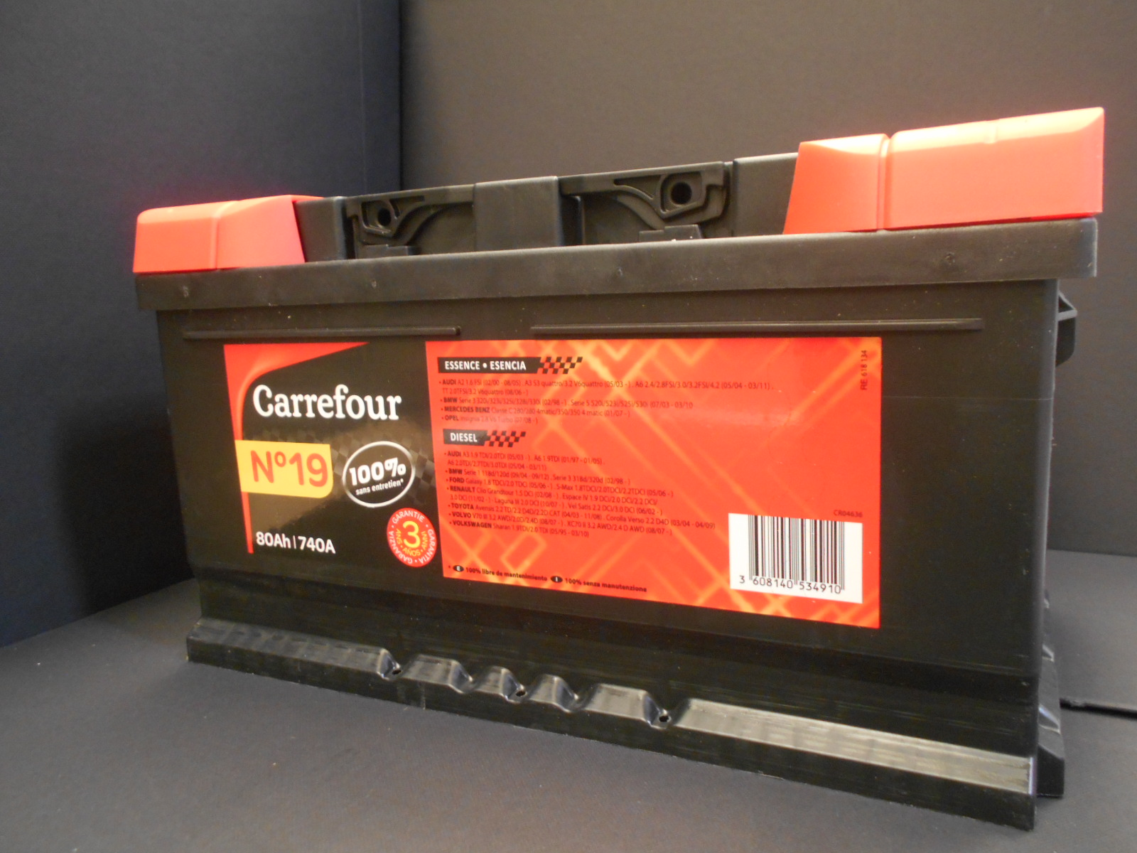 Batteria 80Ah Carrefour