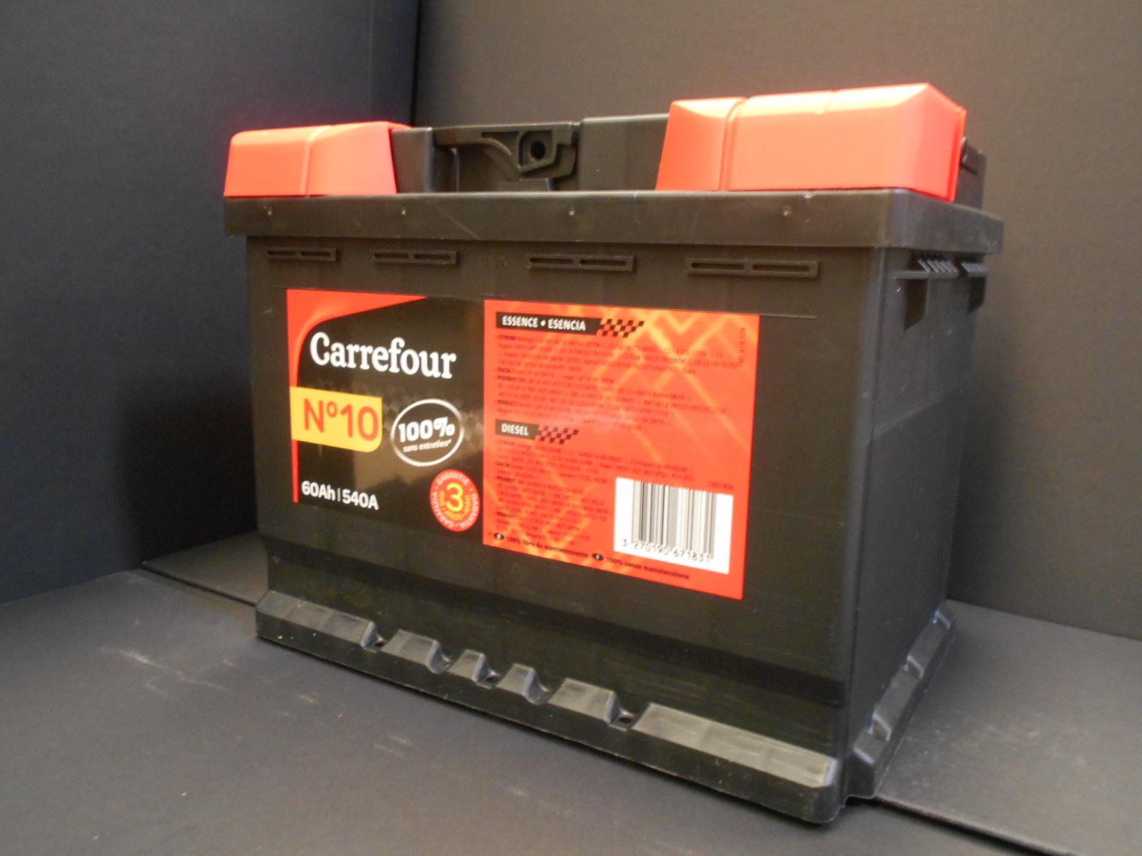 Batteria Auto 60Ah Carrefour