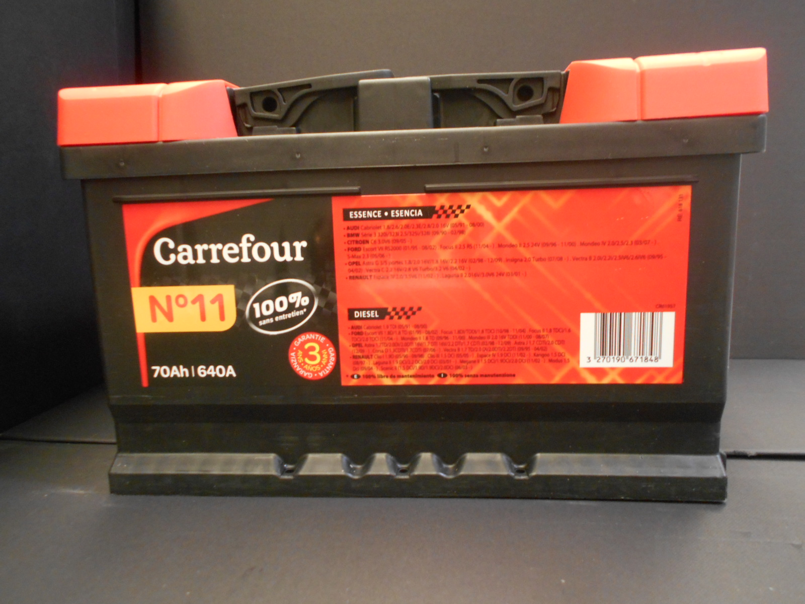 Batteria Auto 70Ah Carrefour