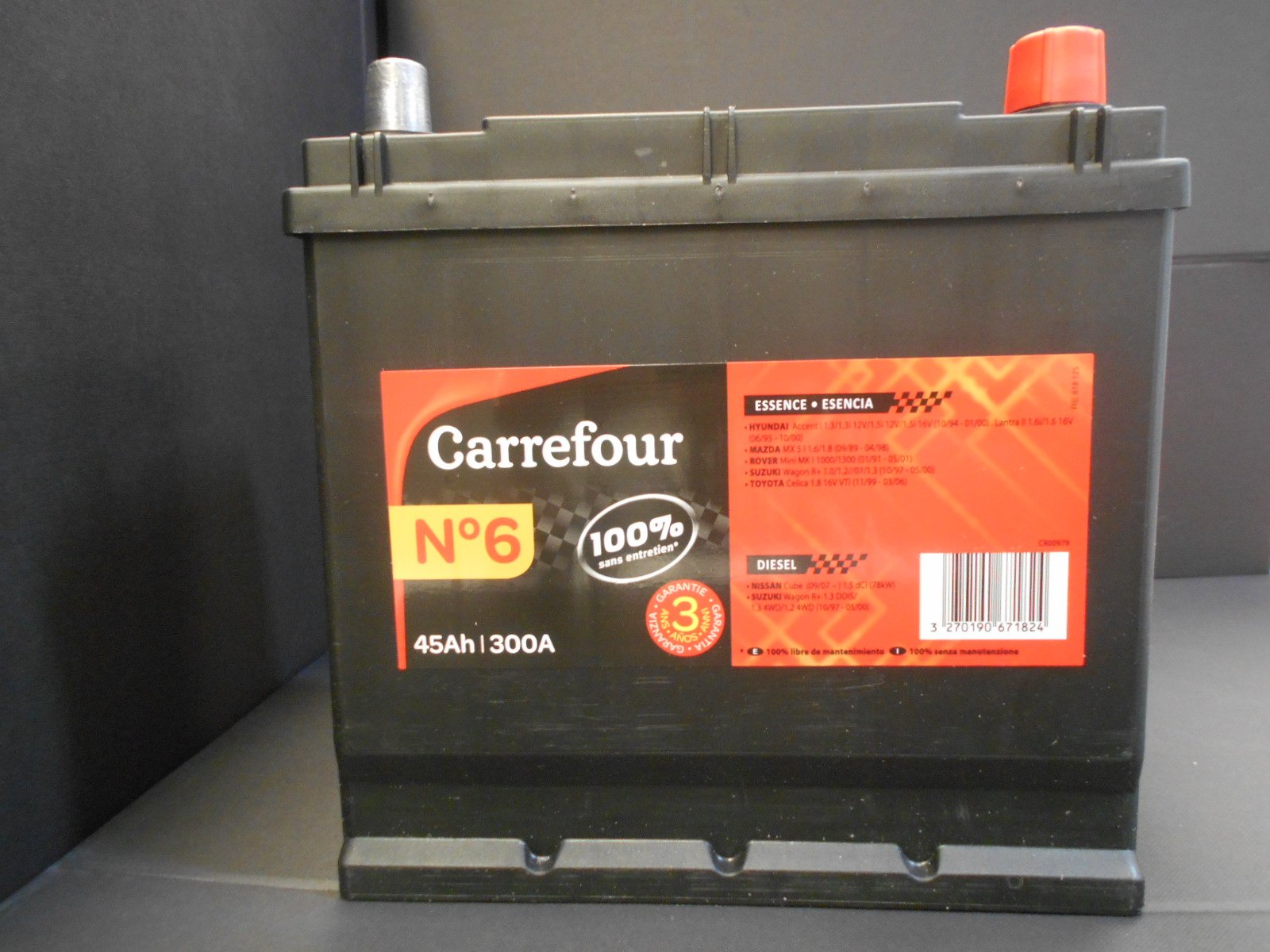 Batterie Moto Carrefour