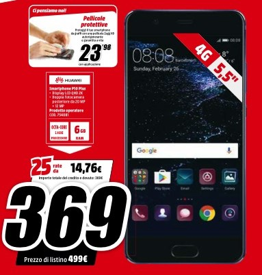 Huawei P10 Plus MediaWorld