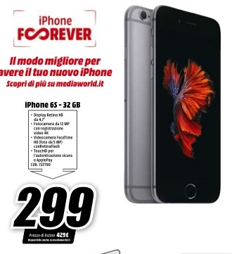 Iphone 6 16Gb MediaWorld