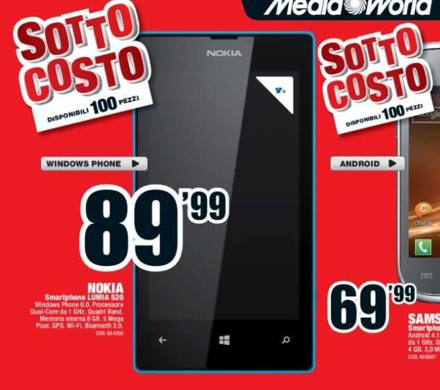 Nokia Lumia 520 MediaWorld
