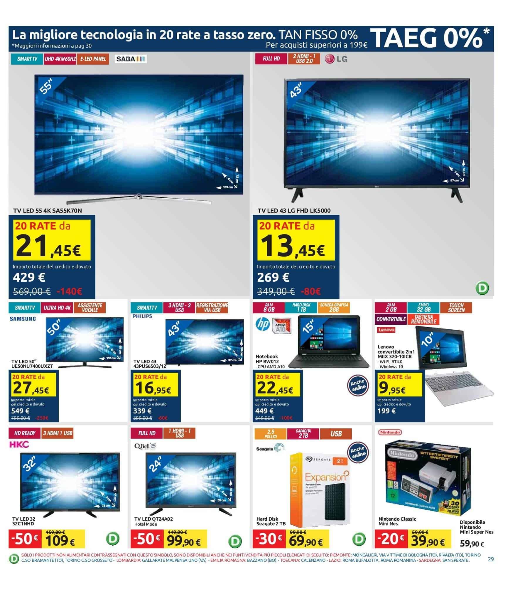 Offre Televisori Carrefour