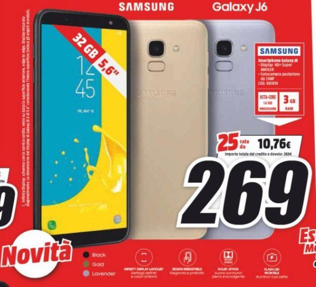 Samsung Galaxy J6 MediaWorld