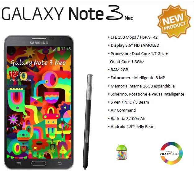 Samsung Galaxy Note 3 Neo Unieuro