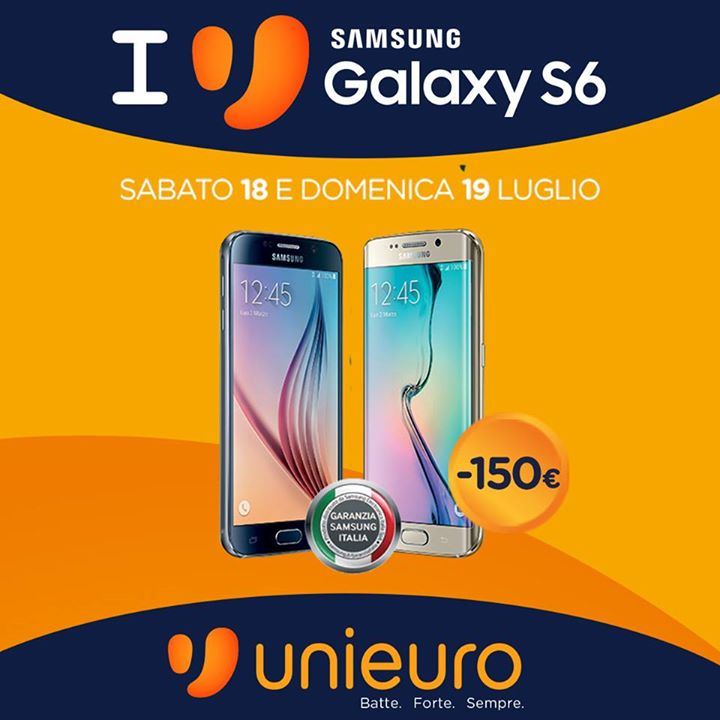 Samsung Galaxy S6 Edge Italia Unieuro