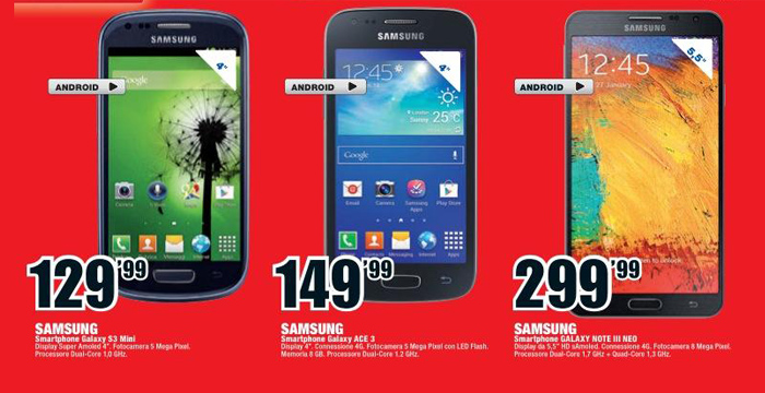 Samsung S3 Mini MediaWorld