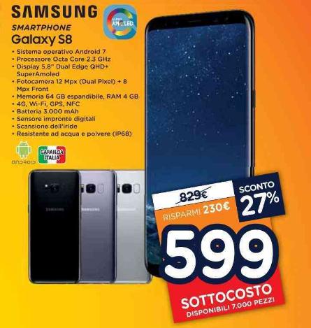Samsung S8 Edge Unieuro