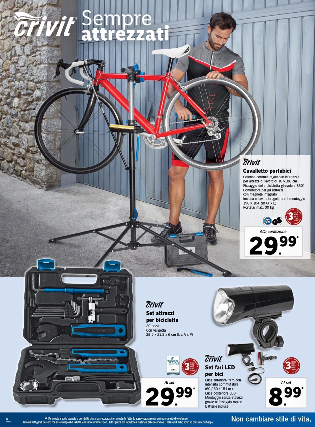 Supporto Per La Riparazione Della Bicicletta Lidl
