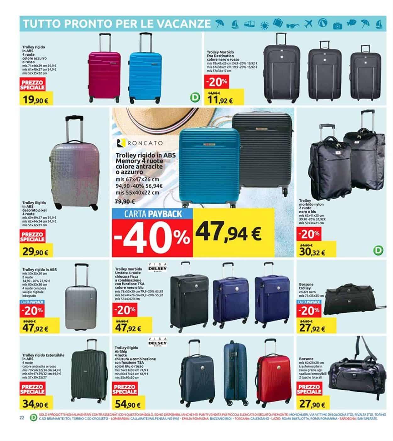 Valigie Di Viaggio Carrefour